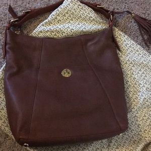 New Isaac Mizrahi Large Brown Leather Bag Tote